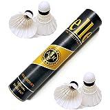 Steller Badminton Feather Shuttlecock Gold Series, Pack of 10 (White) Shuttle Cock