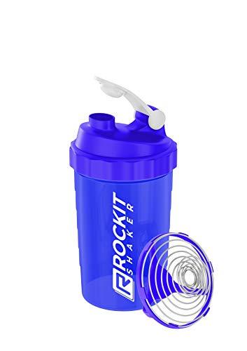 Protein Shaker - 750ml - Made in Germany – auslaufsicher - patentiertes Mischsystem - Eiweiss Shaker - Fitness Shaker (Ocean Blau)