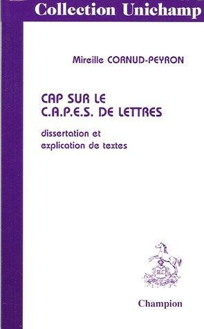 Cap sur le CAPES de Lettres by Mireille Cornud-Peyron (2003-05-28)