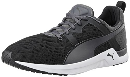 Puma Men's Pulse XT Sport Black and Periscope Mesh Running Shoes