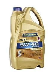 RAVENOL VST SAE 5W-40 / 5W40 Vollsynthetisches Motoröl speziell für Turbolader und Katalysatoren (5 Liter)