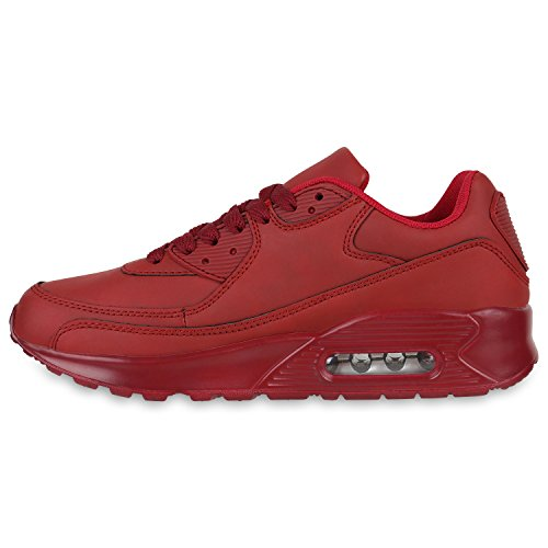 Damen Herren Unisex Laufschuhe Neon Runners Casual Schuhe Sportschuhe Rot