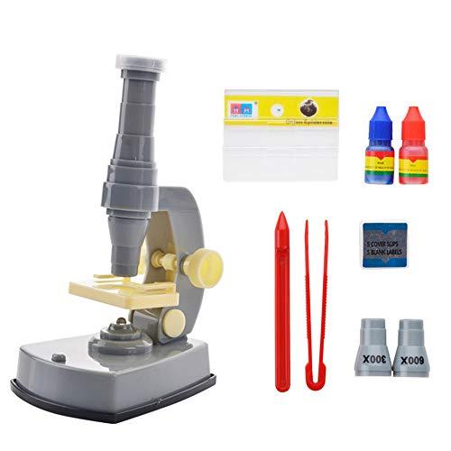 Morph33 microscopio per bambini piccoli 600x microscopio set illuminato scienza e istruzione laboratorio cognitivo ausili didattici giocattoli educativi per bambini diapositiva di ispezione e analisi