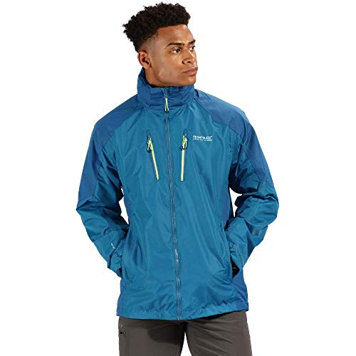 Regatta Herren Calderdale III Waterproof and Breathable Hooded Active Hiking Shell Jacke, Sea Majolica Blue, XXXL