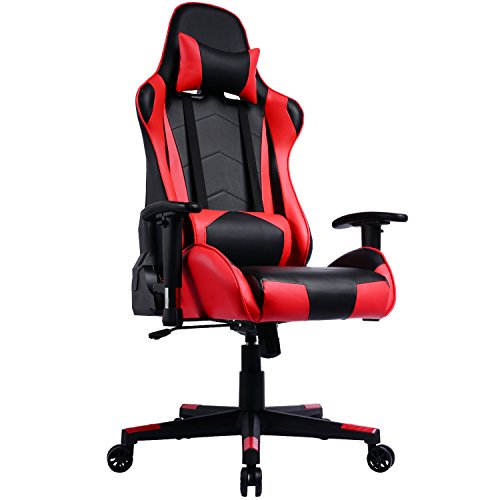 Sedia Gaming Schienale Reclinabile; Poltrona Da Ufficio Gamer Racing Sedile