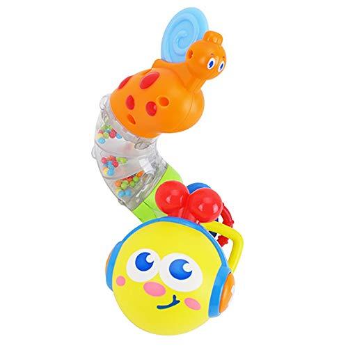 Tianzhiyi Verschiedene Spielwerkzeuge Wurm Rassel Baby Spielzeug Baby Früherziehung Musical verdrehen Wurm Rassel Spielzeug niedlichen Cartoon Tier Lernen Geschenk für Kinder Kinder Jungen Mädchen (Melissa Und Doug-muster Perlen)