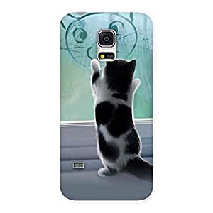 Cute Kitty Face Print Back Case Cover for Galaxy S5 Mini