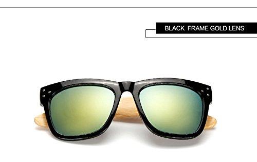 Reixus (TM) Ray Klassische Bambus Sonnenbrille Holz Herren-Sonnenbrillen Mode Handmade Brillen Frauen-Marken-Designer UV400 mit urspr¨¹nglichem Fall