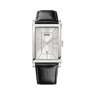Hugo Boss - 1512384 - Montre Homme - Quartz Analogique - Cadran Argent - Bracelet Cuir Noir