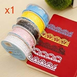 [Envoi GRATUIT 7~12 jours] bande de dentelle decorative evide dentelle ruban adhesif autocollants adhesifs // Decorative Lace Tape Hollowed Out Lace Adhesive Tape Adhesive Stickers