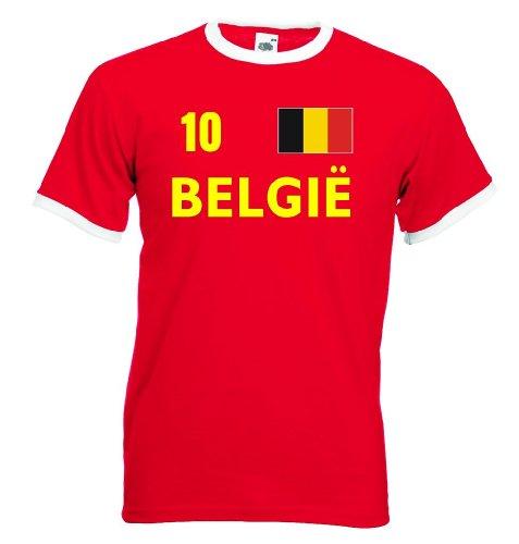 BELGIE Retro Herren T-Shirt Belgien Trikot Nr.10|l