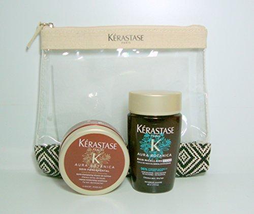 Scopri offerta per Kerastase Kit da Viaggio Aura Botanica Bain Micellaire Riche 80ml + Masque 75ml + Omaggio Pochette