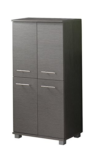 Schildmeyer 120245 Highboard, 36 x 32,5 x 117 cm, esche grau