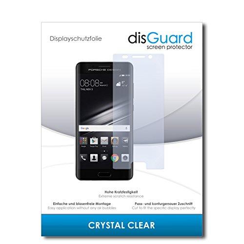 disGuard® Bildschirmschutzfolie [Crystal Clear] kompatibel mit Huawei Mate 9 Porsche Design [2 Stück] Kristallklar, Transparent, Unsichtbar, Extrem Kratzfest, Anti-Fingerabdruck - Schutzfolie