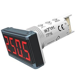 akYtec ITP16 Temperaturanzeige, Rot