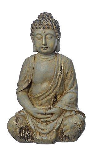 Figura de Buda, escultura de Buda, Jardín Buda meditando, Feng Shui 3