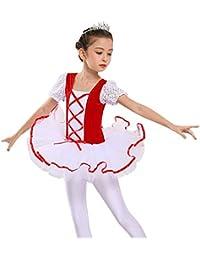 c9c35d89a AJJDL Salón de Baile Ropa de Baile para niños Rendimiento Competencia Traje  de Baile Gimnasia Leotardo
