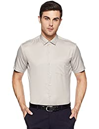 John Miller Men's Solid Slim Fit Synthetic Dress Shirt