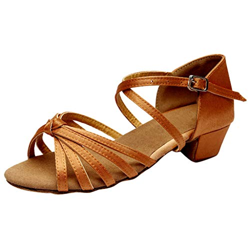 Tanzschuhe Dtandard und Latein Dasongff Damen Mädchen Silber Gold Dance Schuhe Peep Toe Salsa Tango Sandalen Tanzen Sandaletten Modern Ballschuhe High Heel Sommersandalen Brautschuhe -