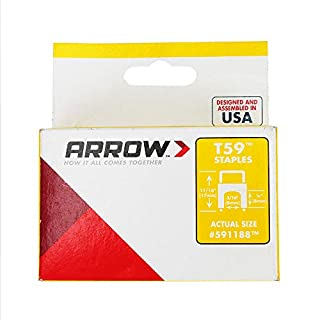 Arrow A591188 Staples, Silver, 1/4 inch x 5/16 inch / 6 mm x 8 mm