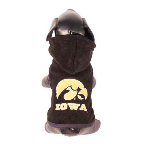 All Star Dogs NCAA Iowa Hawkeyes Hundejacke aus Polarfleece mit Kapuze, Unisex-Erwachsene, Team Color, Small -