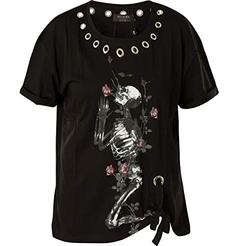 Religion Damen T-Shirt Young Tee 59EYUT70 Jet Black Schwarz, XS