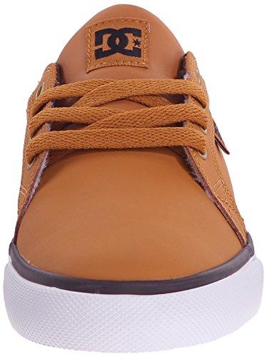 DC Council Skate Shoe (Little Kid/Big Kid), Wheat/Dark Chocolate, 11 M US Little Kid Wheat/Dark Chocolate