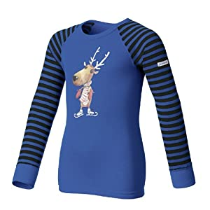 Odlo Kinder Unterhemd Shirt Long Sleeve Crew Neck Warm Trend Kid's