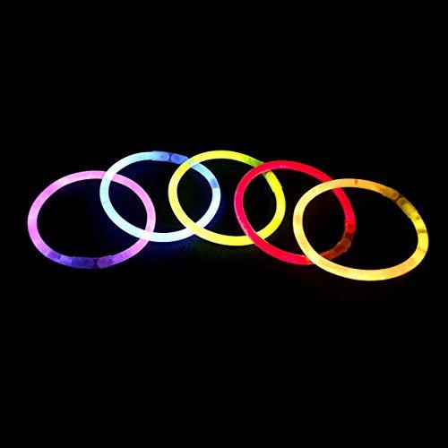 Ultra Mixed Pack von 100 Premium Glow Stick Armbänder Stäbe verschiedene Farben bunte Top-Qualität perfekt für Partys Veranstaltungen Geburtstage Konzerte und als begünstigt 4 große Farben nicht
