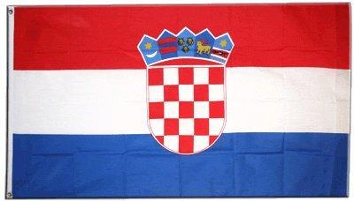 Kroatische Flagge (XXL Flagge Fahne Kroatien 150 x 250 cm)