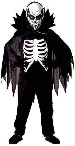 Infantil Scary 128cm Esqueleto Niño Disfraz Pequeño 5-7 años (128cm) para Halloween muertos vivientes vestido de lujo