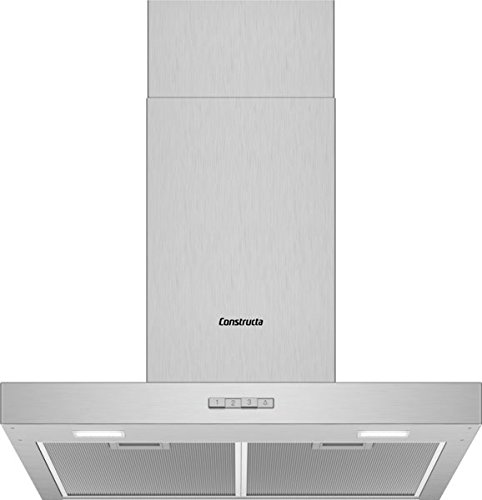 CONSTRUCTA CD636650 Wandhaube/Edelstahl / 60 cm/LED Beleuchtung
