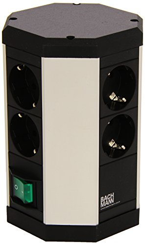 Bachmann 334.006 Duo - Torre múltiple con interruptor (8 enchufes Schuko)
