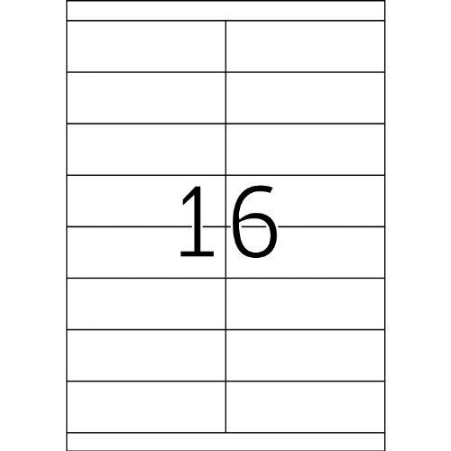 Herma 4264_ A4, 105 x 33,8 mm - Pack de 1600 etiquetas, A4, 105 x 33.8 mm, color blanco