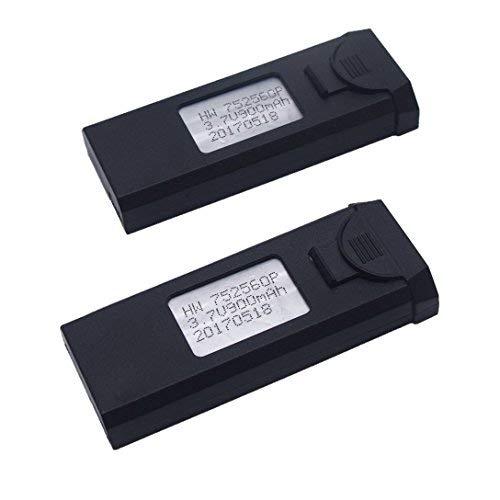 YUNIQUE Espagne ® 2 Piezas Batería Recargable del LiPo de 3.7V 900mAh para VISUO XS809W XS809HW X809 XS809C FPV Quadcopter