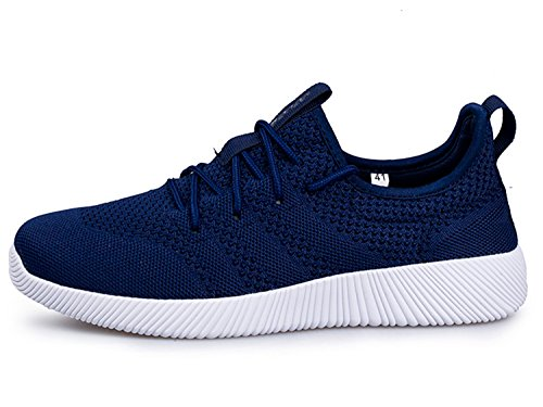 IIIIS-S Herren Damen Straßenlaufschuhe Laufschuhe Walkingschuhe Leichtathletikschuhe Fitnessschuhe Unisex Blau