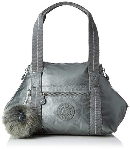 Kipling - Art Mini, Bolsos maletín Mujer, Gris Metallic