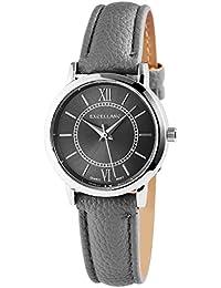 Reloj gris plata números romanos Analógico para Mujer Piel Reloj de pulsera d91806e9fac4