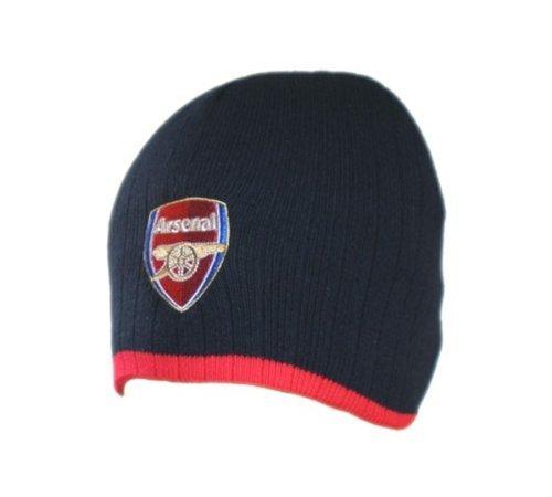 Arsenal Knitted Hat Navy (Red Stripe) / Crest Bronx Strickmütze