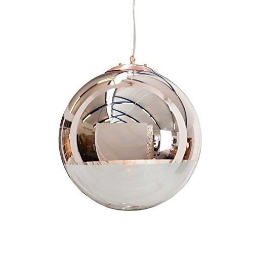 Kupfer-glas-lampe (Edle Design Hängelampe GLOBE 30cm Glas Kupfer E27 60W Kugelleuchte Hängeleuchte Lampen Pendelleuchte Wohnzimmer Esszimmer)