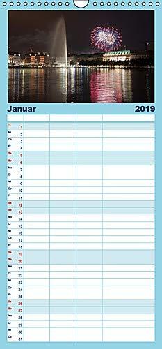 Hamburg - Alster - Familienplaner hoch (Wandkalender 2019 , 21 cm x 45 cm, hoch): Bilder der Hamburger Binnen- und Aussenalster (Monatskalender, 14 Seiten ) (CALVENDO Orte)
