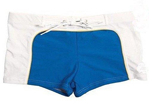 Herren Designer Swim Shorts blau / weiß