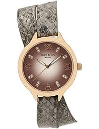 Mike Ellis New York Damen-Armbanduhr Streamline Analog Quarz Kunstleder SL3142F1