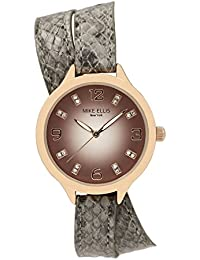 Mike Ellis New York Mujer-reloj analógico de cuarzo piel sintética Stream Line SL3142F1