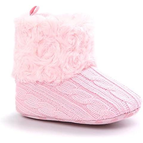Zapatos para bebé de 0-18 meses, Auxma Snowboots Soft Crib Shoes Botas para niños pequeños