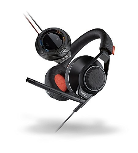 Plantronics 202180-01 RIG Surround PC Gaming Headset with 7.1 Surround Sound-Enabled USB Amp, Black - Plantronics Usb Pc