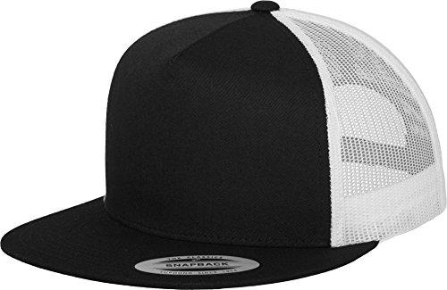 Premium Snapback Damen Herren Classic Trucker Cap 2-Tone Rap Rapper Hip Hop panel schwarz weiß cap (Shirt Banana Republic Damen)