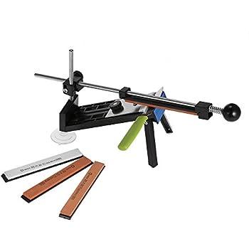 KKmoon Upgraded Küchen  Messerschärfer Sharpemaker Kits System Festen Winkel  Mit 4 Steinen