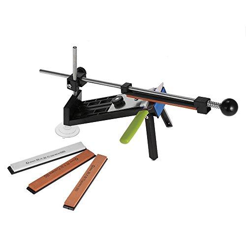KKmoon Upgraded Küchen- Messerschärfer Sharpemaker Kits System festen Winkel mit 4 Steinen