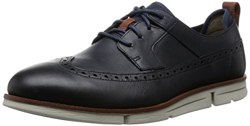Clarks - Trigen Limit, Scarpe stringate Uomo Blu (Navy Leather)